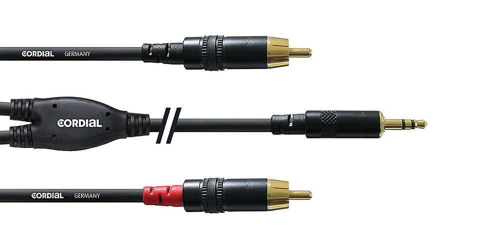 CORDIAL CFY 1.5 WCC Y-adaptor Professional Audio Cable - 1.5 mtrs