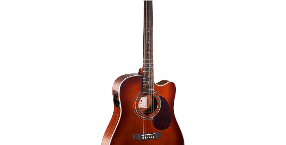 CORT MR500E DREADNOUGHT CUTAWAY ELECTRO-ACOUSTIC GUITAR - BROWN BURST