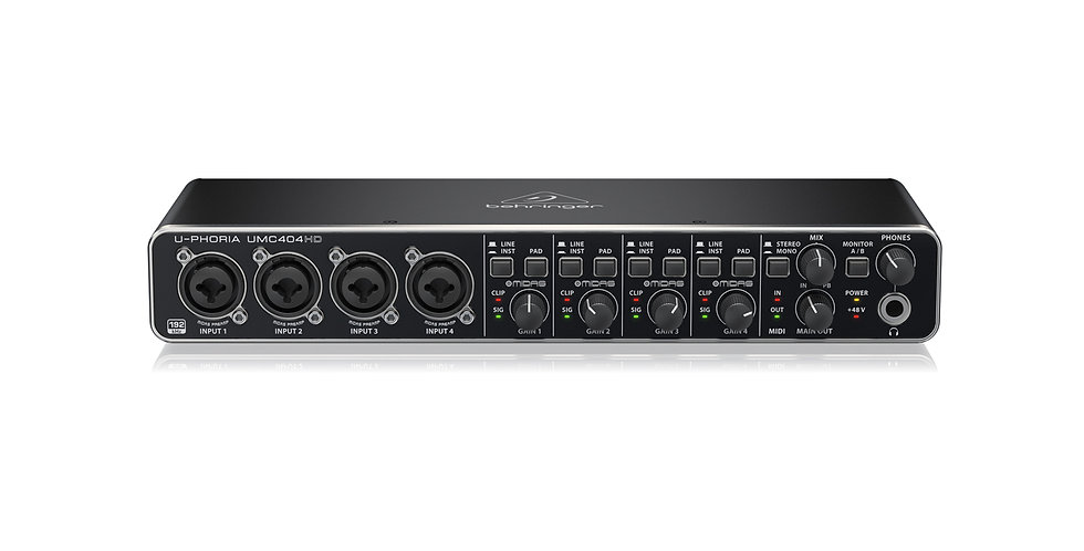 BEHRINGER UMC404HD Audiophile 4x4, 24-Bit/192 kHz USB Audio/MIDI Interface