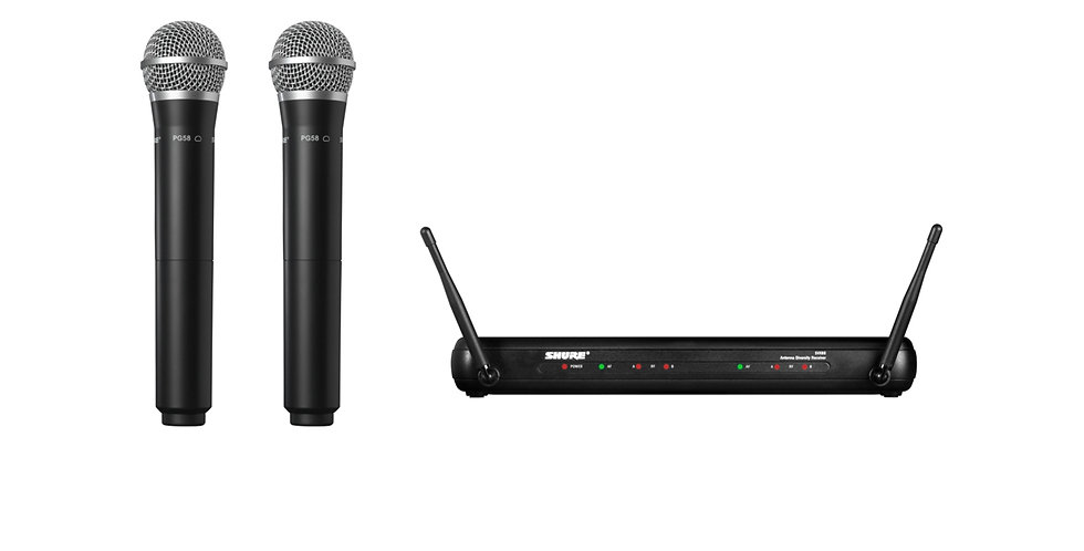 SHURE SVX288/PG58 Dual Vocal Wireless System