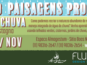 CURSO: Criando paisagens produtivas com água de chuva, com Guilherme Castagna - 26 e 27 de Novembro
