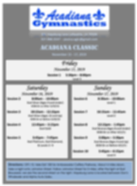 Acadiana Classic 2019 Schedule.png