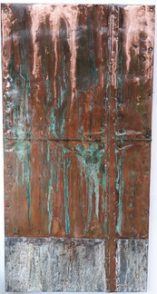 Copper and steel art panel