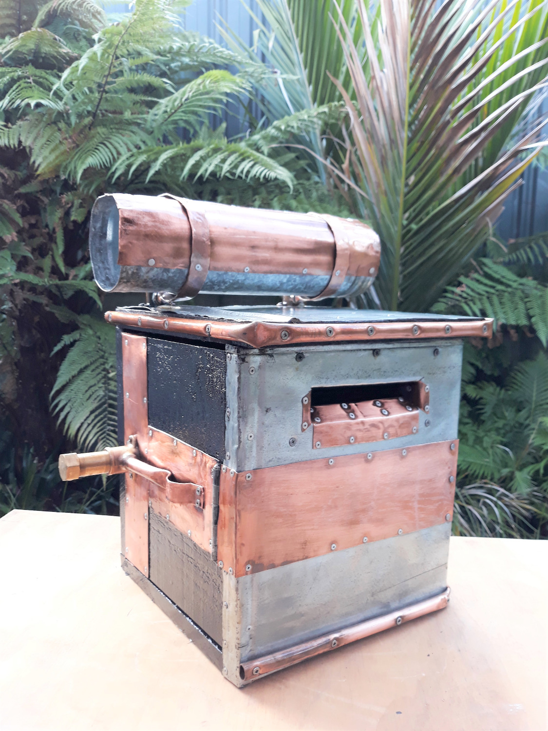 Custom copper letterbox