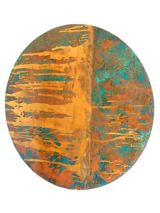 Large Copper circle 90cm