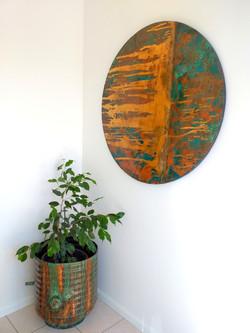 Copper art circle 900mm