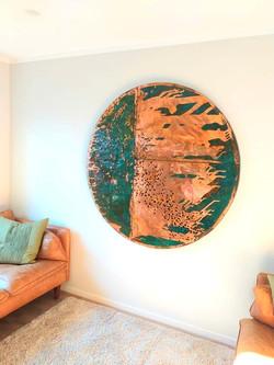 Copper Wall art 1.4mt Circle