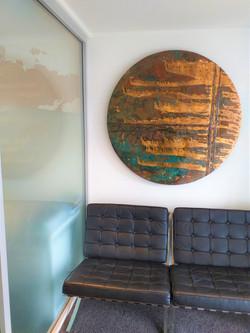 Copper and patina art circle 1