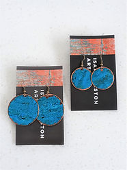 Copper patina Circle earrings