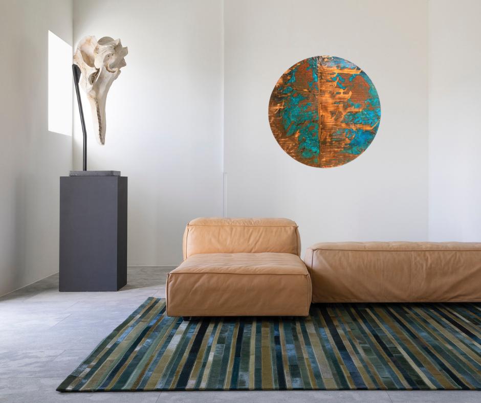 Copper and Patina Art Circle