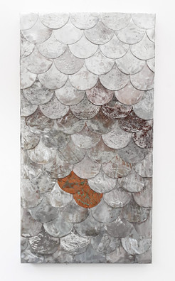 Fish Scale Steel and Copper Art - 1200mmx 650mm