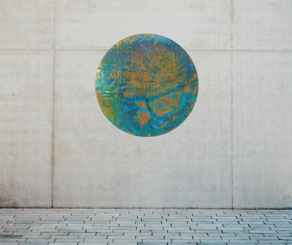 Patina blue circle