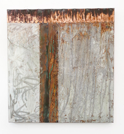 Copper and Steel Wall Art  - 1200mm x 1100mm