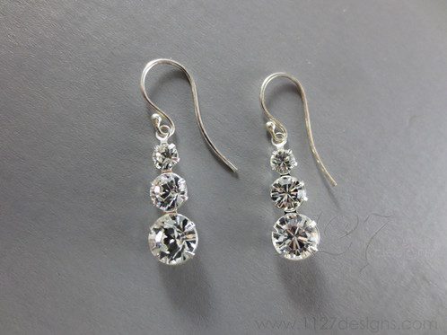 barcelona silver argent earrings en pendientes featured crystal and basic articles plata gancho cristal hook y