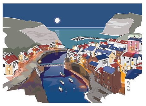 Summer Moon over Staithes.jpg