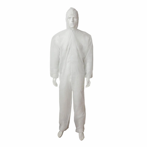 Disposable Overall Dexter With Hoodie White Large