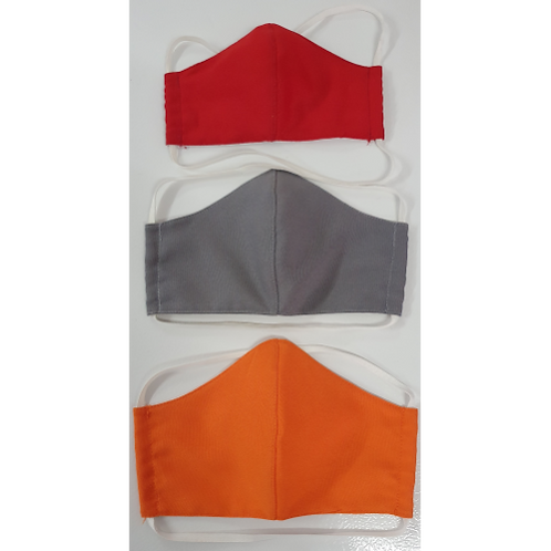 Multi-Layer Fabric Mask with AntiMicrobial Outer Layer.