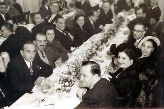 Dinner of members of the Greek community