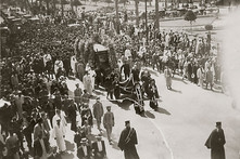 Funeral procession of a prominent person