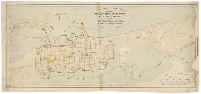 Plan der Alten Stadt Alexandria