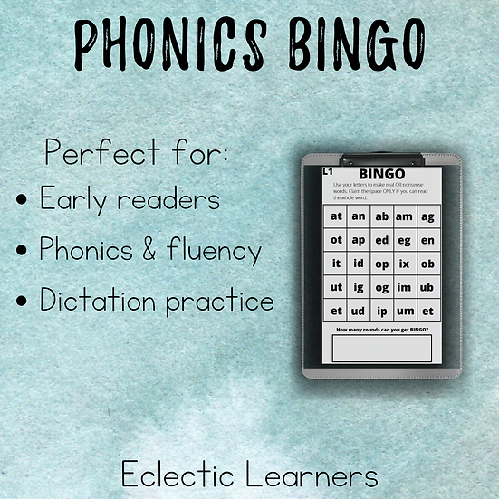 Phonics BINGO || Early Reader