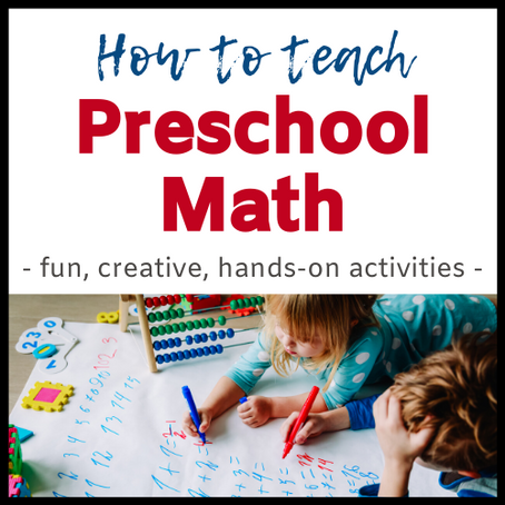 How to Teach Preschool Math || Eclectic Learners
