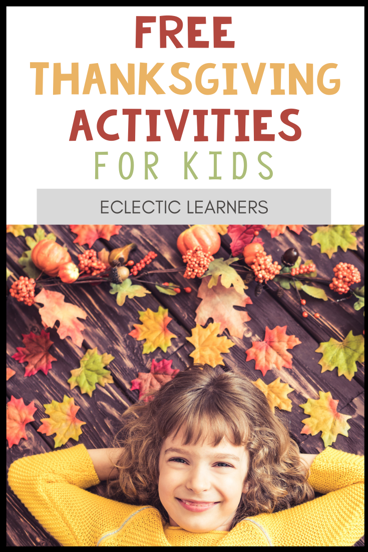 Free Thanksgiving Activities for Kids