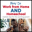 How to Work from Home AND Homeschool || Eclectic Learners