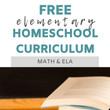 Free Elementary Homeschool Curriculum - Math and ELA || Eclectic Learners