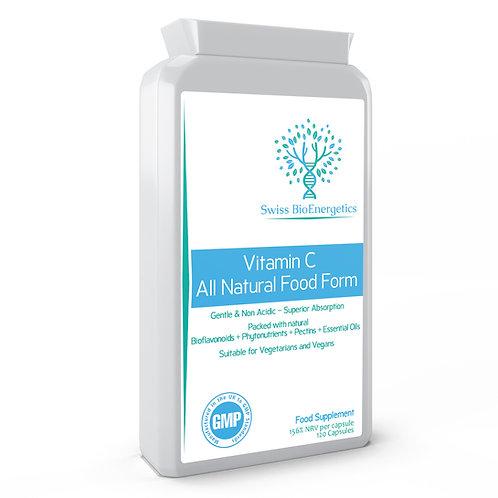 Vitamin C - All Natural Food Form 120 Capsules