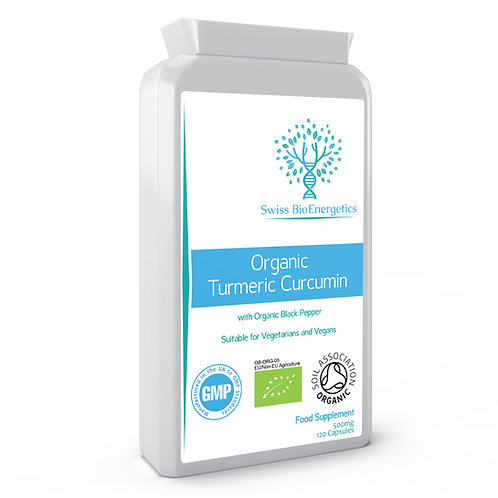 Organic Turmeric Curcumin 500mg - 120 Capsules