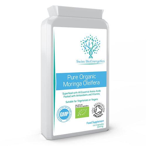 Pure Organic Moringa Oleifera 500mg 120 Capsules