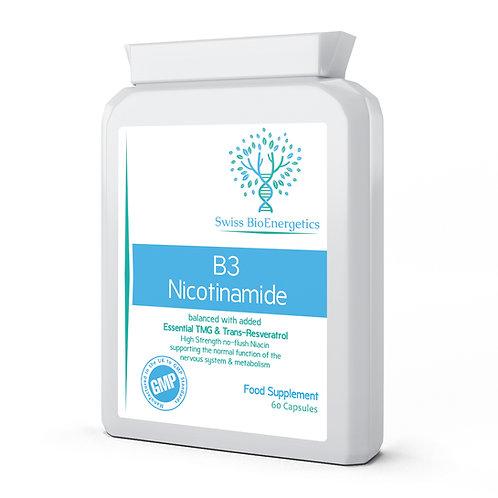B3 Nicotinamide with TMG (Tri-Methyl Glycine) & Trans-Resveratrol