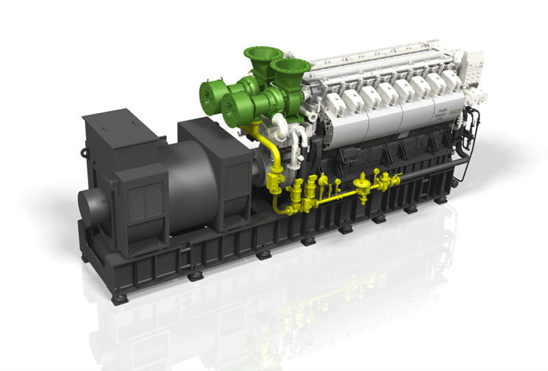ABC dual fuel 16DZD genset