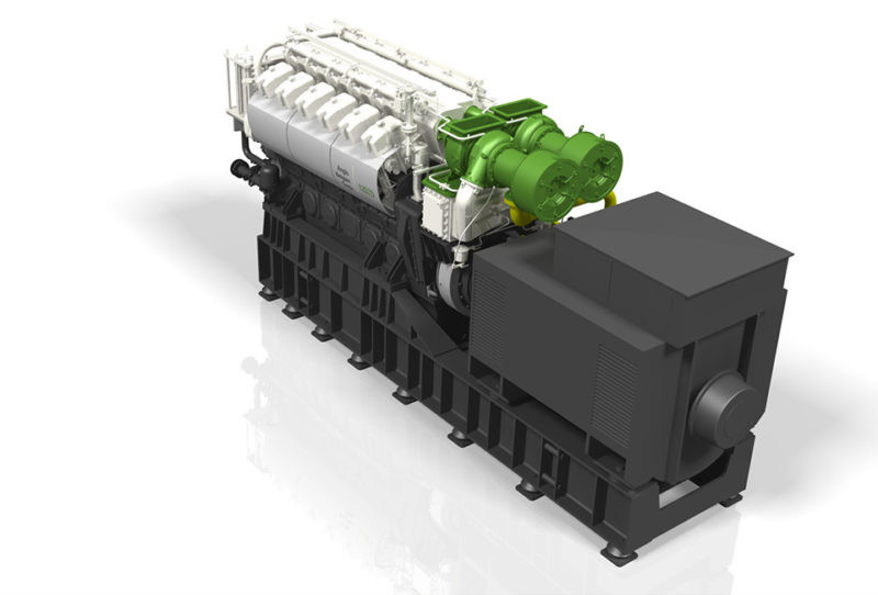 ABC dual fuel 12DZD genset
