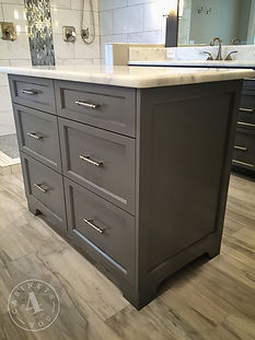 custom master bath island cabinet gray shaker cabinets 4 You
