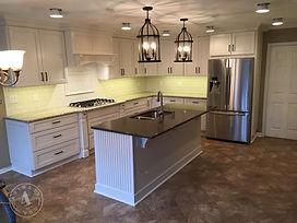 custom cabinetry painted&glazedcabinets beadboard island