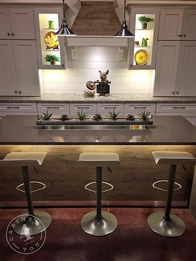 custom contemporary quartz counter wood cabinets