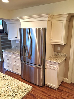 Painted custom cabinets