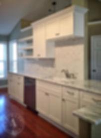 white shaker custom cabinetry