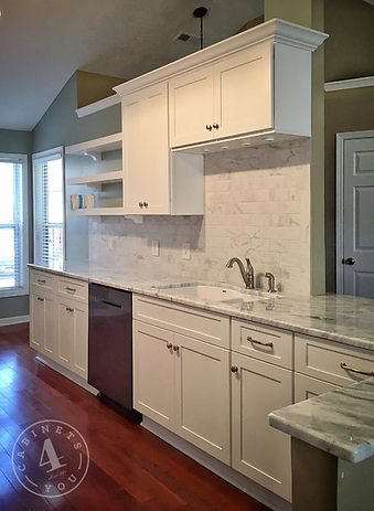 white shaker custom cabinetry