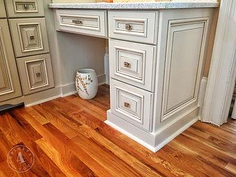 custom paint & glazed bathroom vanities