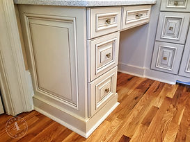 custom paint & glazed bathroom vanities