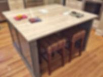 White shaker perimeter & Grey shaker island custom cabinets