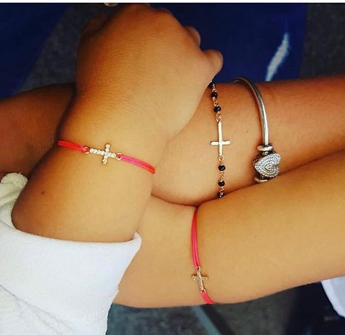 Bracelet croix fil