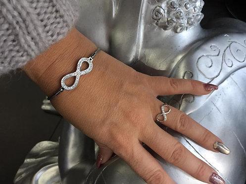 bracelet infini strass