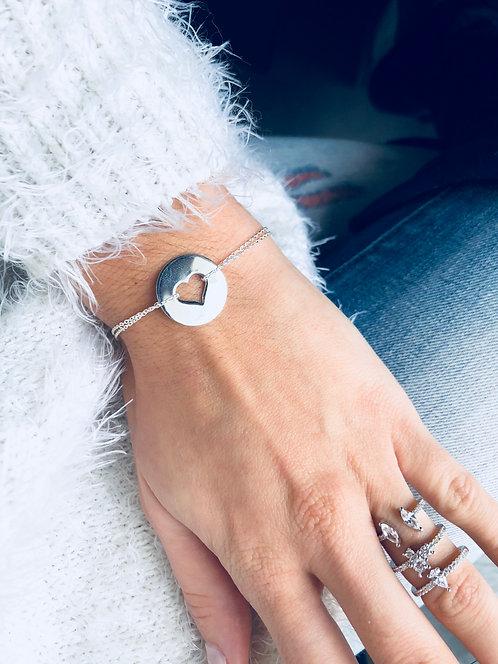 Bracelet plaque cœur