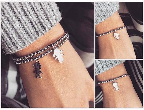 bracelet facette personnalisable personnage