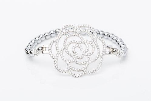 Bracelet rosace emattite