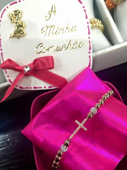 bracelet croix hématite